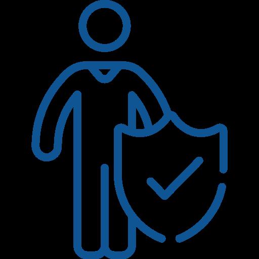 Icon sicherer Arbeitsplatz